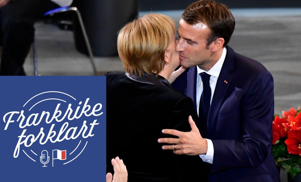 Stormaktene Tyskland og Frankrike var lenge fiender. Etter 1945 har imidlertid samarbeidet blomstret. Her er kansler Angelica Merkel og president Emmanuel Macron sammen på en markering til minne om krigsofrene i Europa.