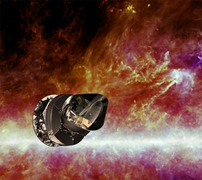Romteleskopet Planck har kartlagt lyset fra The Big Bang og galaksene for å finne ut om universets opprinnelse og utvikling. Grafikk: ESA (Foto: ESA)