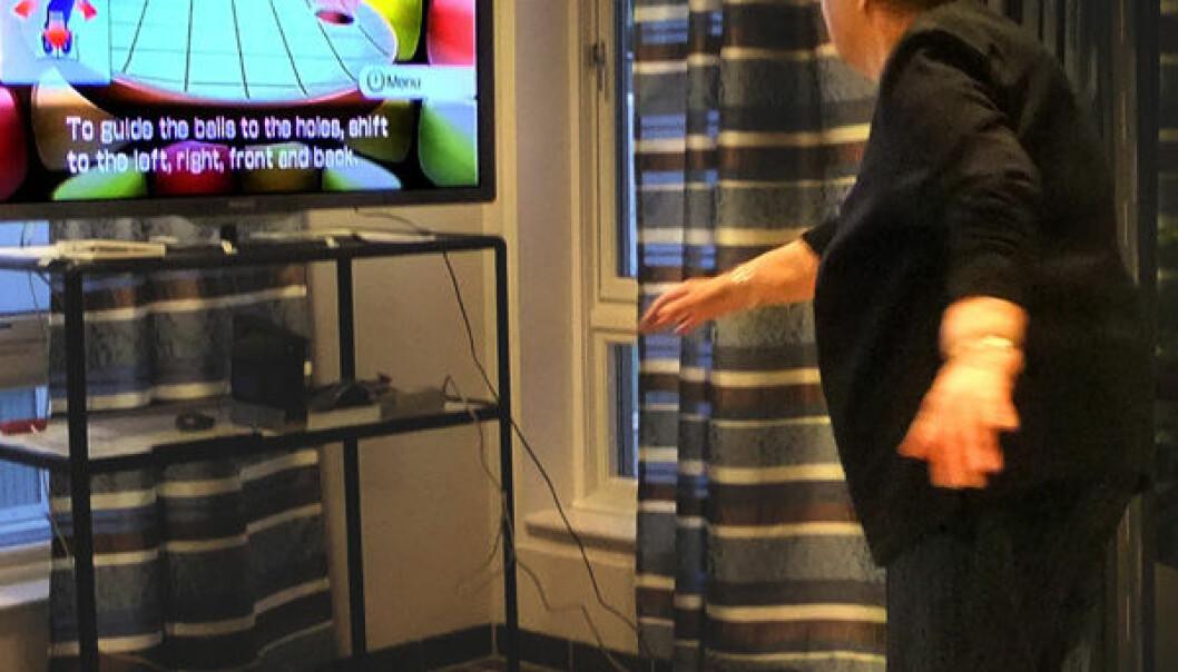 Utprøving av Nintendo Wii treningsspill på eldresenter. Ellen Brox