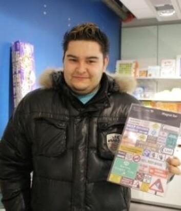 Robin Mirza ønsker seg magneter til verktøykassa, men aller mest ønsker han seg iPad. (Foto: Ida Korneliussen)
