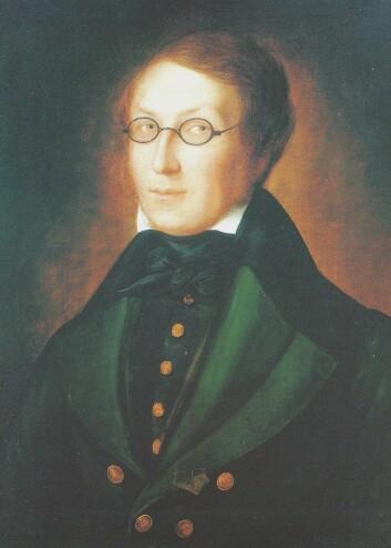 Henrik Verkland - eller Wergeland som en eldre slektning av Henrik forandret navnet til på 1700-tallet. (Malt av Carl Peter Lehmann) (Foto: Nasjonalgalleriets Norske forfatterportretter, 1993)