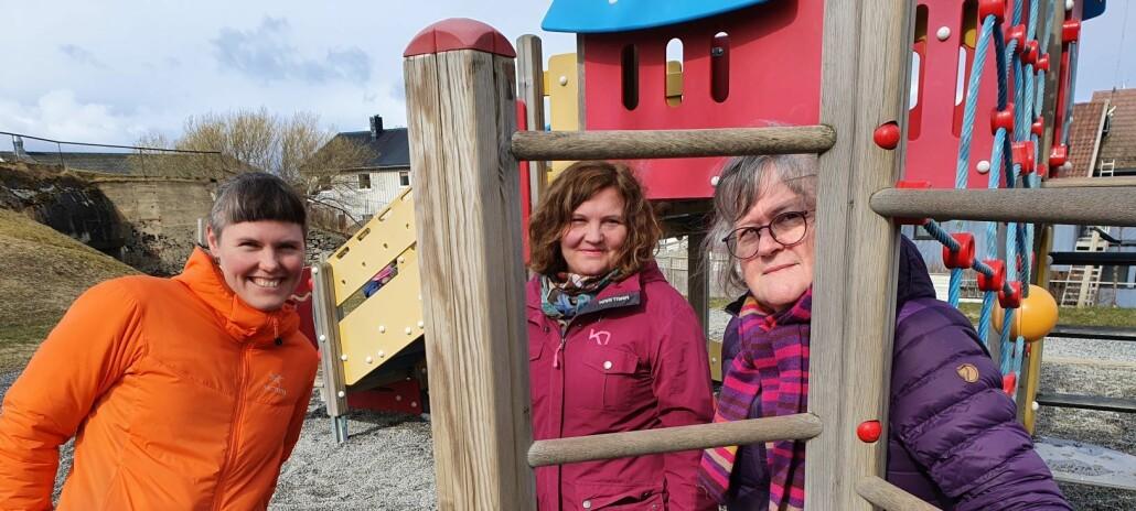 Cathrine Bjerknes, Kristin Fløtten og Kathrin Olsen undersøker hvordan barn og voksne blir preget av pandemi-tiltak i barnehager.