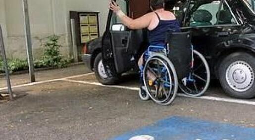 Bevegelseshemmede sliter med parkering