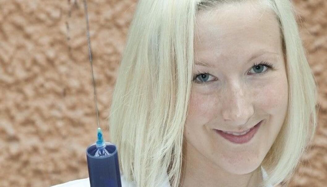 Botoxinnsprøytingar i magesekken førte til slankare rotter. På biletet er PhD-student Helene Johannessen ved NTNU. M. Wagelund, NTNU