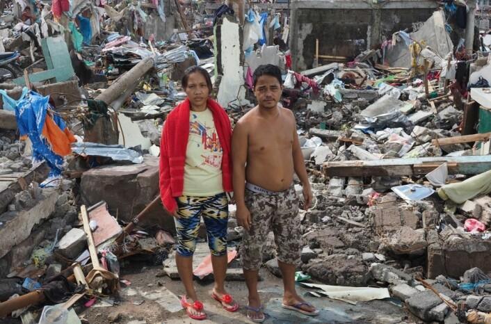 Fattige rammes hardere enn rike når ekstremvær inntreffer. Her fra Filippinene i november i fjor. Vi vet ikke sikkert om menneskeskapte klimaendringer ligger bak uvær som dette. (Foto: Jørgen Lohne, Scanpix)
