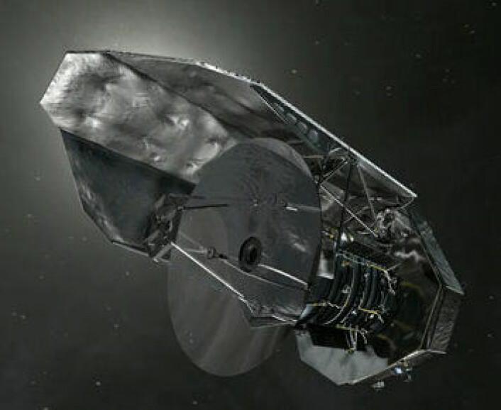 Herschel: Tre tonn med høyteknologi, bl. a.  et gigantisk speil. Oppdagelsene herfra ser ut til å bli et av ESAs varige bidrag til vår forståelse av Universet. (ESA)