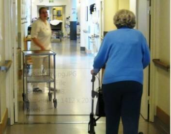 Rehabiliteringen etter hoftebrudd er tung og mange blir aldri helt friske. (Illustrasjonsfoto: Arne Nesje/SINTEF)