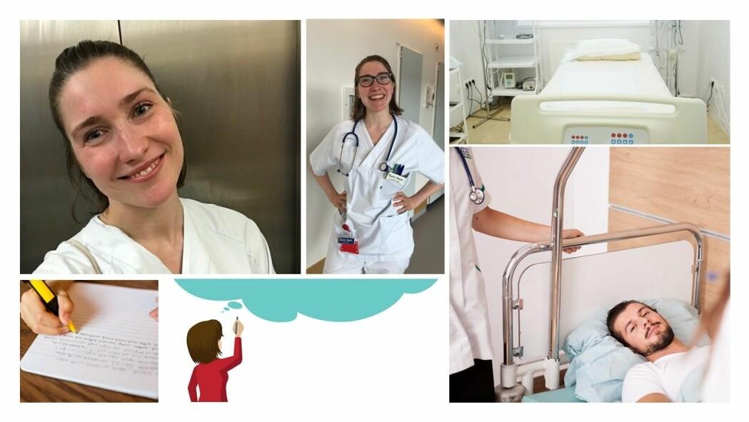 – Sykepleiere jobber med pasienter hver eneste dag. Da ser de mange problemer som vi andre ikke legger merke til. Derfor er det viktig at sykepleiere tar tak i disse problemene og skaper nye løsninger for pasienter i Norge og i hele verden, sier Gunn-Berit Neergård (øverst til venstre og i midten).
