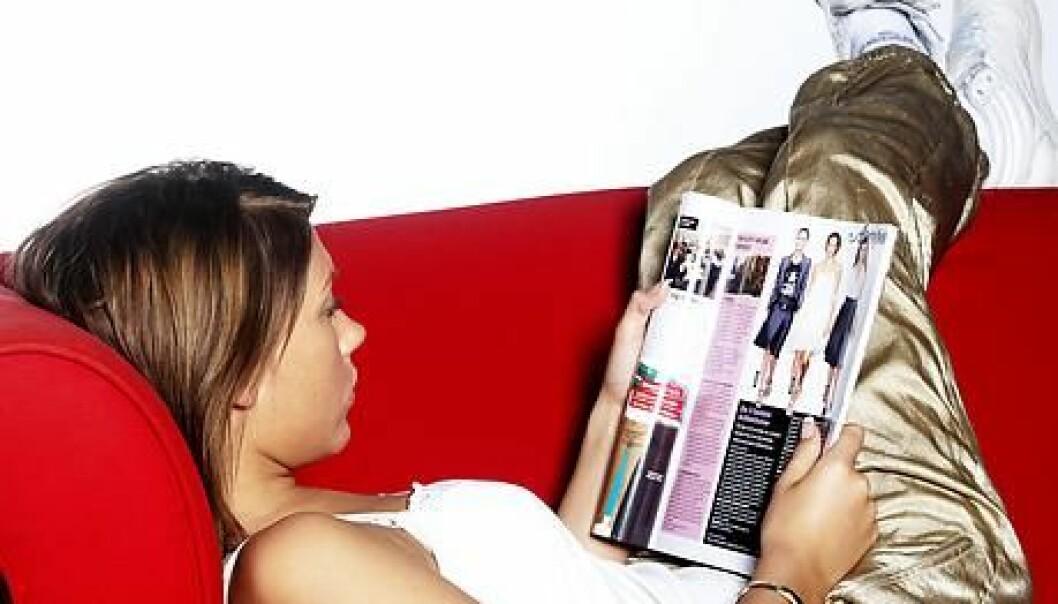 Selv om ukeblader brukes til virkelighetsflukt, har unge jenter et veldig bevisst forhold til det de leser, ifølge forsker Sanna Sarromaa. (Ill.: www.colourbox.no)