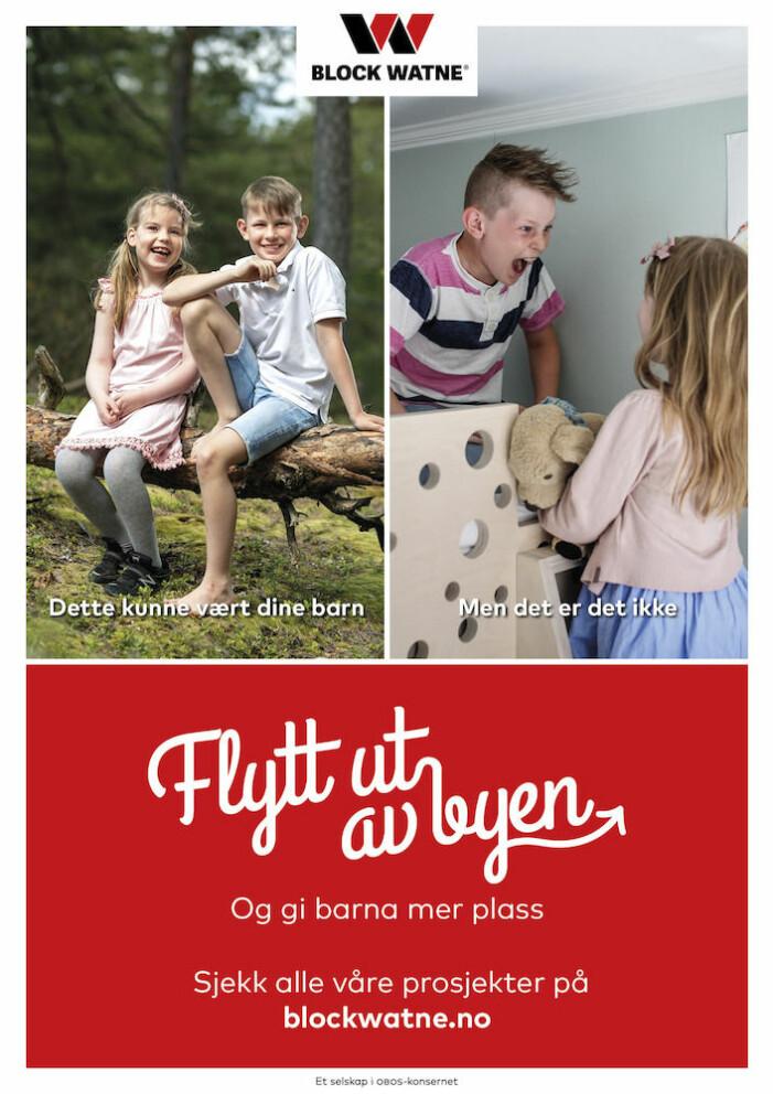 Ideen om en perfekt barndom (figur 1). På den ene av kampanjens postere blir smilende barn i landlige omgivelser plassert i motsetning til barn som krangler innendørs.