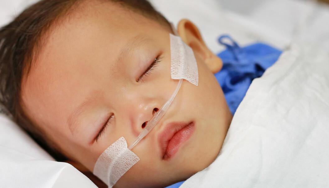 Barn alvorlig syke med korona i USA