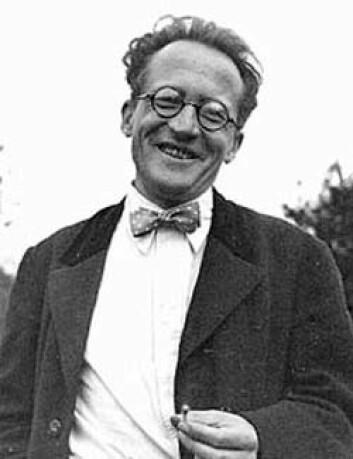 Erwin Schrödinger, kort tid før han lanserte tankeeksperimentet med katten (Foto: Ukjent, Wikimedia Commons)