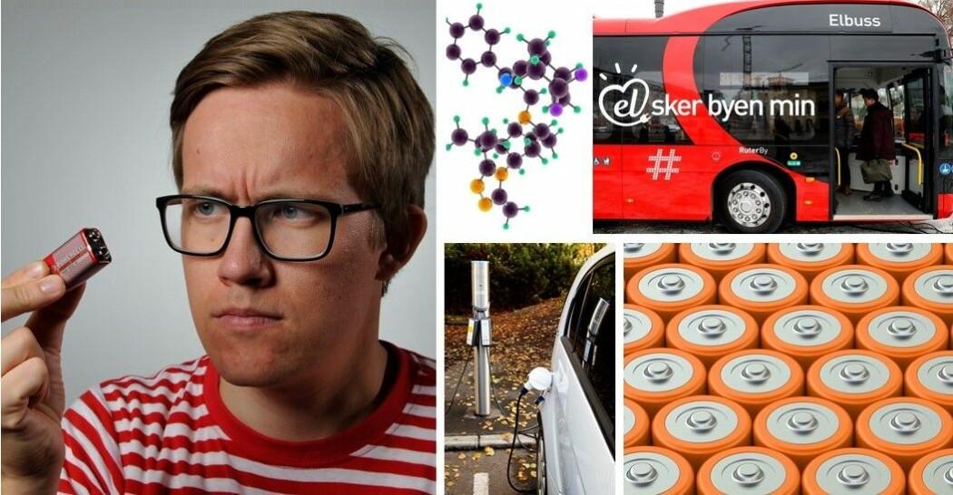 Halvor Høen Hval vil lage bedre batterier til busser og biler.