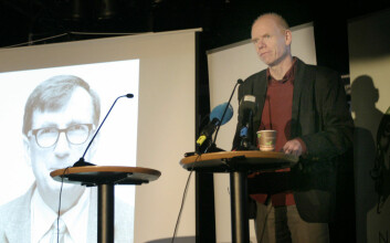Porfessor Roger Strand ved Senter for vitenskapsteori på Universitetet i Bergen bidro med kommentarer til prisvinner Bruno Latour sitt arbeid. (Foto: Andreas R. Graven)