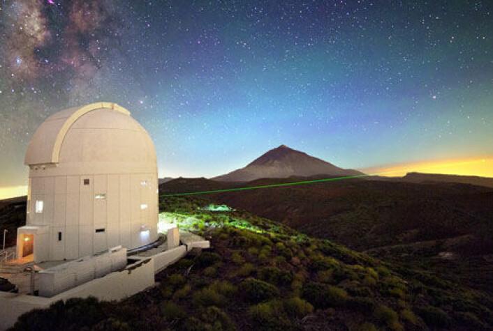 I kvanteteleportasjons-forsøket overførte forskerne et fotons egenskaper fra La Palma til Tenerife. Her ser vi den optiske stasjonen på Tenerife. (Foto: IQOQI Vienna, Austrian Academy of Sciences)