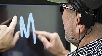 Blinde «så» bokstaver skrevet med elektrisitet i hjernen