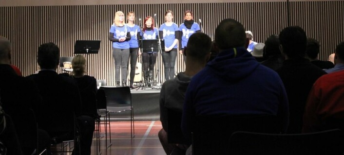 Studenter ved Norges musikkhøgskole hadde adventskonsert for de innsatte i flere fengsler i adventstida. (Foto: Siw Ellen Jakobsen)