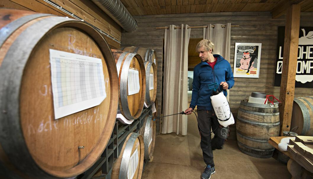– Kunnskapen vi får fra forskningen om gjær- og bakteriestammene her på gården og i bryggeriet gjør at vi kan lage nye, særpregede øltyper, sier Eivin Eilertsen.
