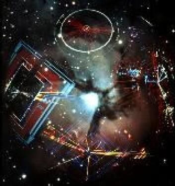 """""""Partikler som en gang har blitt sammenfiltret, vil speile hverandres egenskaper momentant over store avstander. (Foto:CERN)"""""""