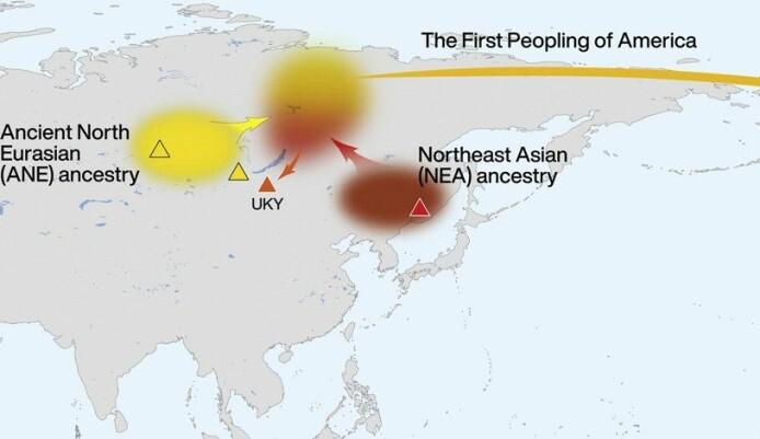 De første amerikanerne tok med seg genmiksen fra Sibir.