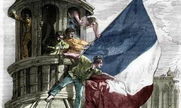 Den franske revolusjonen påvirket Eidsvollsmennene. Men påvirkningen kom også fra USA, fra Storbritannia og fra Danmark. (Foto: (Ukjent kunstner))