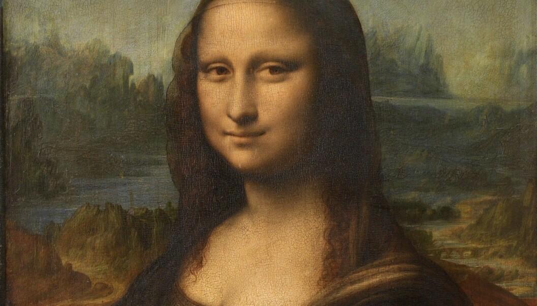 Utsnitt av Mona Lisa (Foto: Wikimedia Commons)