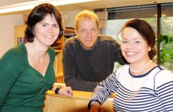Anne Sigrid Haugset (til venstre) fra Trøndelag Forskning og Utvikling har bistått Anstein Lyngstad og Valeria Khvalynskaja ved Fylkesmannen i Nord-Trøndelag. (Foto: Morten Stene)