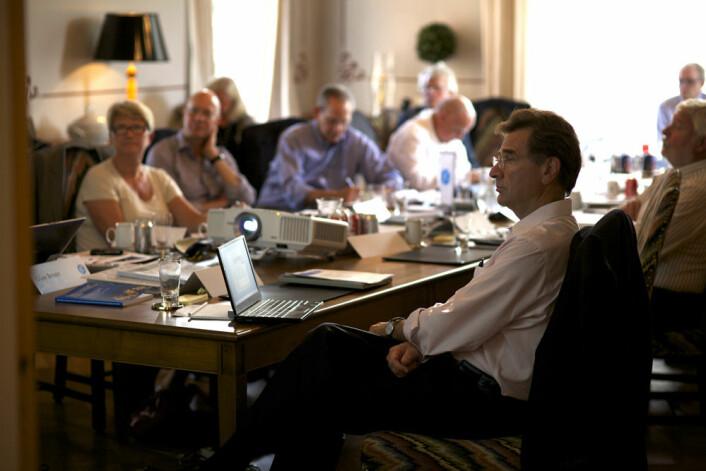 David Christiani og andre eksperter innen nanoteknologi og helse diskuterer nanorisiko på Ifs workshop i september. (Foto: Sigmund Clementz, If)