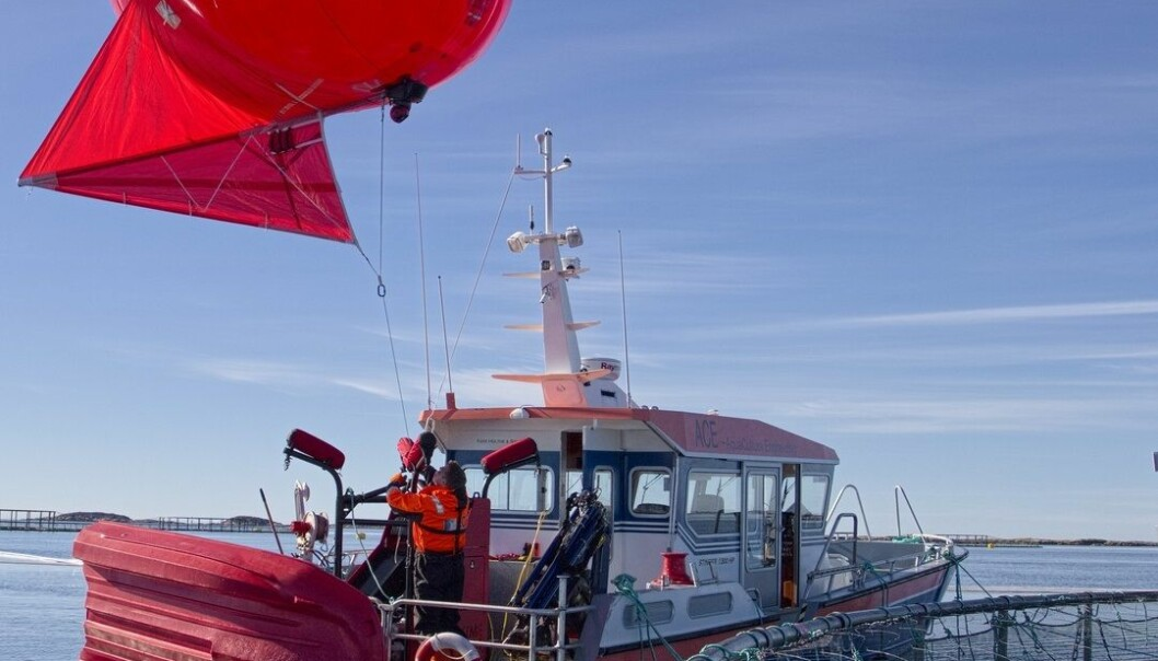 Forsøkene ble gjennomført under topp forhold, men utstyret tåler både vind og vær. Sintef