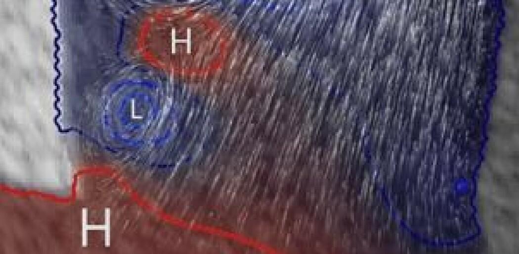 Jet- og virvelstrømmene i atmosfæren finnes også inne i hjertet.