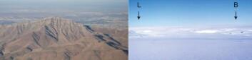 Franklinfjellene i vest-Texas (t.v.) og Coats Land (t.h.) på Antarktis kan ha hengt sammen en gang i tiden. (Foto: LC Rogers/Wikimedia Creative Commons // Ian Dalziel)