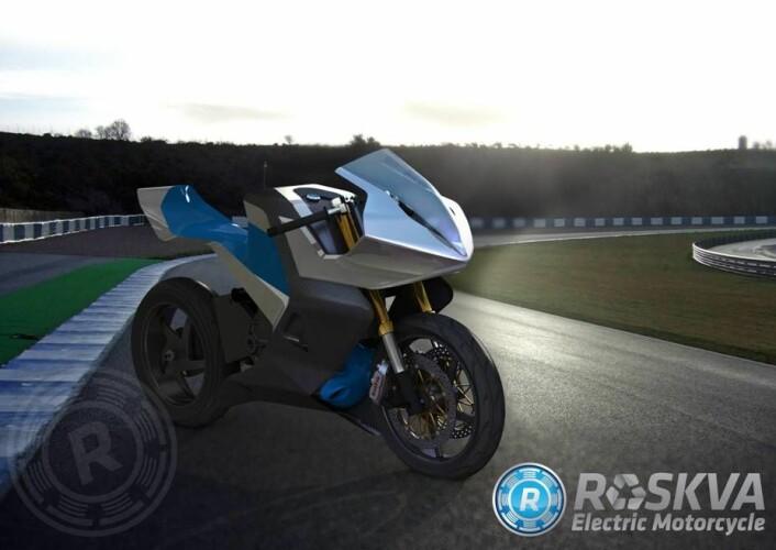 Roskva drives av to elektriske motorer, og skal oppleves like sterk som en 650 kubikk mellomstor motorsykkel. Toppfarten blir 160 kilometer i timen, og rekkevidden med første generasjon batterier 100 kilometer. (Foto: (Illustrasjon: Roskva))