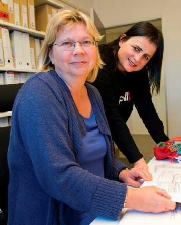 Torunn S. Olsen (t.v.) og Nina Jentoft. (Foto: Jan Arve Olsen)