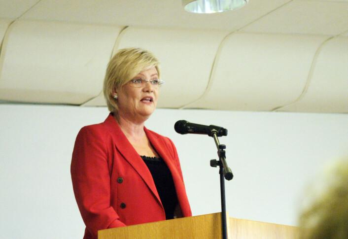 Kunnskapsminister Kristin Halvorsen er den tredje statsråden fra SV med ansvar for forskning og høyere utdanning. (Foto: Andreas R. Graven)