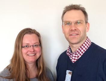 PhD-stipendiat Nora Johanne Klungseth og professor Nils Olssen som er veileder. (Foto: NTNU)