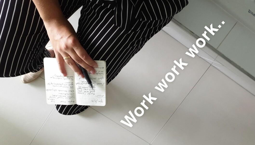 På feltarbeid må man utnytte de øyeblikkene man har alene til å skrive notater. Det er lett å glemme de små tingene.