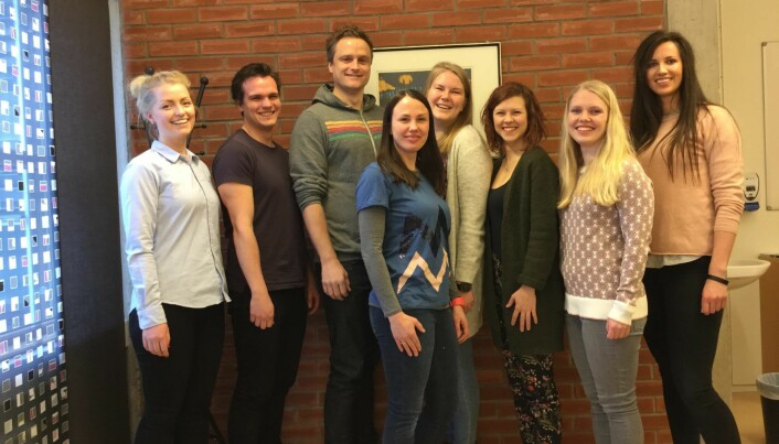 Students and researchers who contributed to the study from L-R: Tiril Tanum, Simen Berg Saksvik, Alexander Olsen, Ingvild Saksvik-Lehouillier, Johanna Dahlberg, Trine Smedbøl, Heidi Ringen and Caroline Holberg.