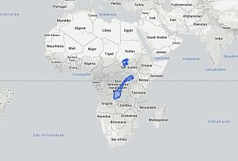Afrika er mye større og Norge er mye mindre enn det ser ut på kartet