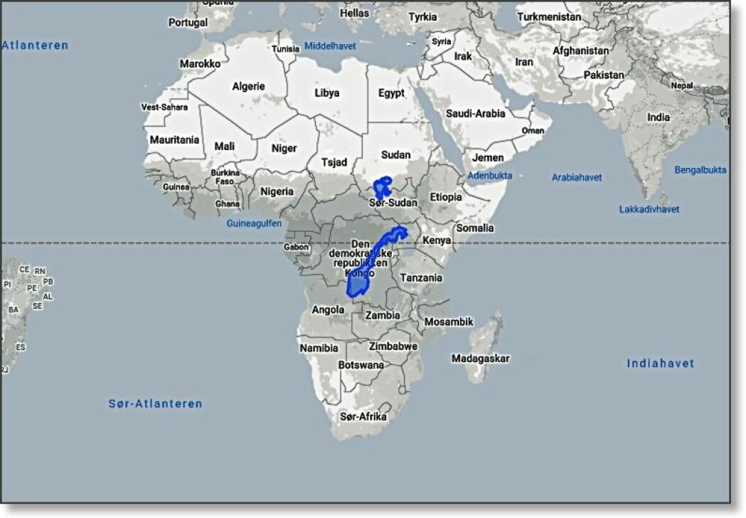 Norge er bare litt over 1 prosent av størrelsen på Afrika.
