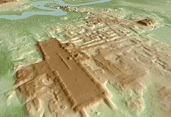 Hva brukte Maya-indianerne denne enorme plattformen til?