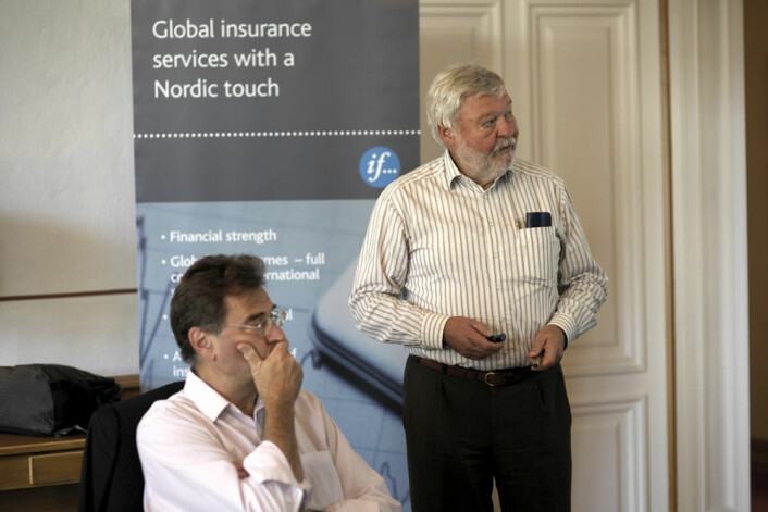 Wolfgang Kreyling snakker om risiko ved nanomaterialer. (Foto: Sigmund Clementz, If)