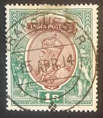 Navnet Trankebar levde videre etter at engelskmennene overtok den tidligere dansk-norske kolonien. Det ser man blant annet på dette frimerket med den britiske kongen Georg V som er stemplet i Tranquebar 15. april 1914.