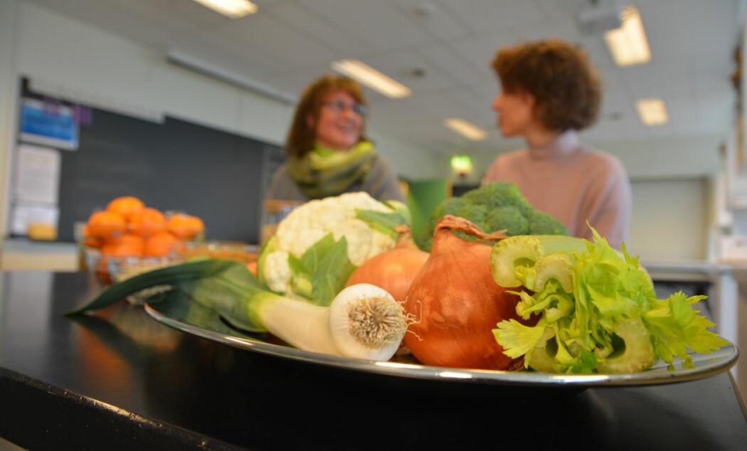 Bjørg Korsnes og Camilla Sandvik er aktuelle med tredje utgave av læreboken «Mat og helse».