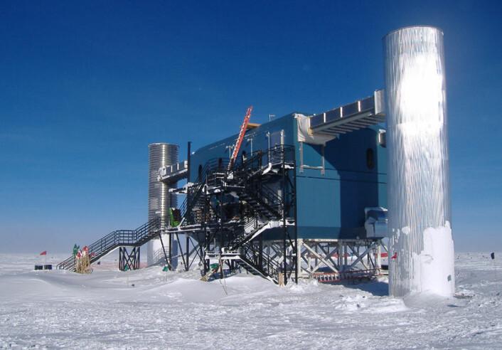 IceCube laboratoriebygningen fotografert mot nordvest (Foto: NSF)