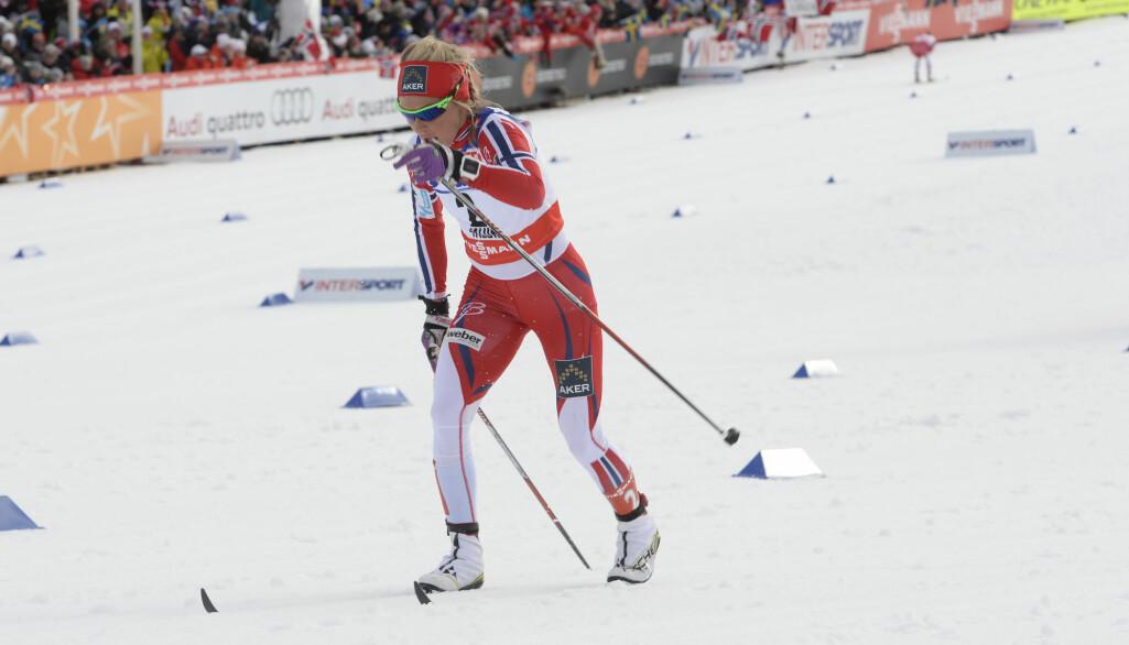 Før dopingsaka: Therese Johaug vann 30-kilometeren føre Marit Bjørgen i VM i Falun 2015.