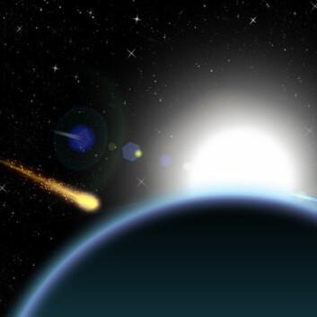 Vitenskapsfolk har i mange år diskutert om eksplosjonen ble skapt av en komet av is eller en asteroide av stein. (Foto: Colourbox)