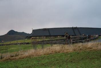Det rekonstruerte jernalderhuset på Borg i Lofoten. Foto: (Foto: Marianne Hem Eriksen)