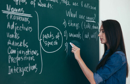 Teachers focus on grammar when they have less experience with a language