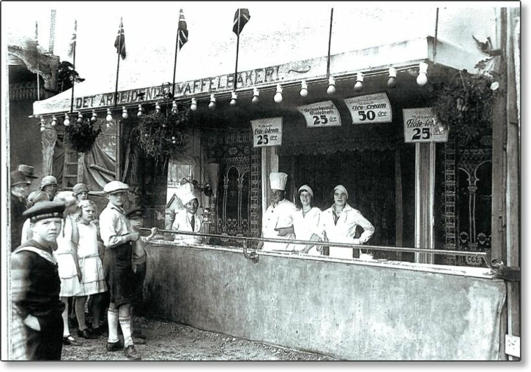 Det arbeidende Vaffelbakeri sto i fornøyelsesavdelingen og ble populært.