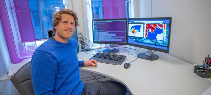 – Bruker du kunstig intelligens og har en ferdig trent modell, så kan du kjøre en beregning av sjøisvarsler på en vanlig laptop, sier Sindre Markus Fritzner.